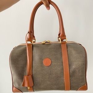 Authentic FENDI Vintage Boston PVC/Leather Handbag